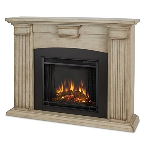Real Flame 7920E Adelaide Electric Fireplace, Medium, Dry Brush White