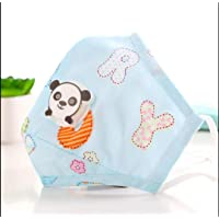 TALABETY Kids Washable Anti Pollution Cotton Mask with Valve Filter for Children (Alpha Blue)