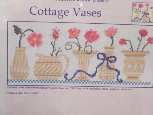 Cottage Vases Counted Cross Stitch -