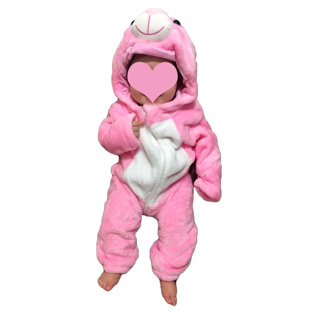 yuxin Baby Rompers Newborn Girls Boys Hooded Jumpsuit