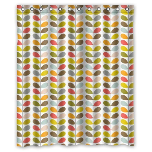 Amazon New Orla Kiely Stem Colourful Type 1 Waterproof Bathroom Custom Shower Curtain 60w X 72h Inches100 Polyester Clothing