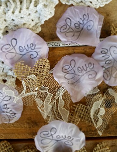 Burlap and Lace Silk Rose Petals, Lavender Flower Girl throw, rustic wedding aisle Confetti, table scatter, by Burlap And Bling Design Studio