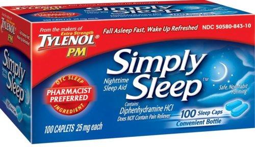 Tylenol suffit de sommeil nocturne Sleep Aid (25 mg), Caplets 100-Count (pack de 2)