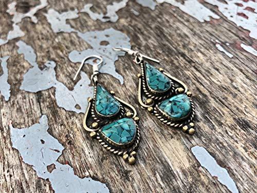 Just.Handmade Earrings/Fashion Earrings/Nepalese Earrings/Boho Earrings/Style Earrings/Gemstone Earrings /