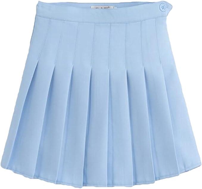 Mxssi Faldas Escolares de Gran tamaño Faldas Plisadas de Cintura ...