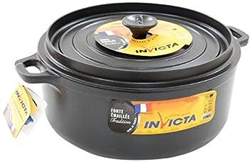 invicta INVICTAFDS-000368 Colore: Nero 35 cm Casseruola Ovale 3,8 l