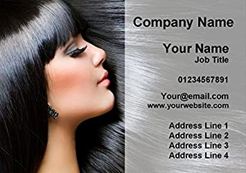 100 Mobile Hairdresser Hair Salon Beauty Personalised Business Cards