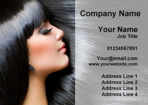 100 Mobile Hairdresser Hair Salon Beauty Personalised Business Cards Fingerprint Designs