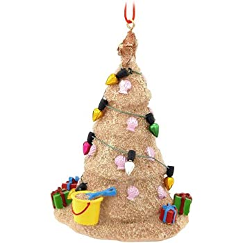 Amazon.com: Sand Beach Christmas Tree Hanging Resin Christmas ...