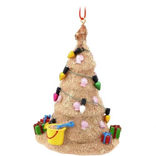 sand beach christmas tree hanging resin christmas ornament - Beach Themed Christmas Tree