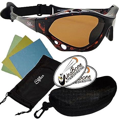 7bb98479b77 SeaSpecs Classic Tortuga Specs Tortoise Shell Brown Lens Water Sunglasses w  Semi Rigid Case Bundle (