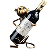 A.B Crew Creative Metal Iron Wine Rack Single Wine Bottle Holder Home Decor(Monkey)