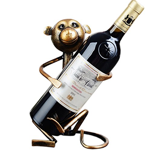 A.B Crew Creative Metal Iron Wine Rack Single Wine Bottle Holder Home Decor(Monkey) by A.B Crew