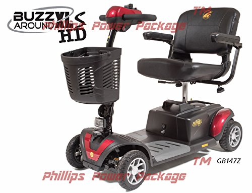 Golden Technologies - Buzzaround XLS HD - Travel Scooter - 4-wheel - Red
