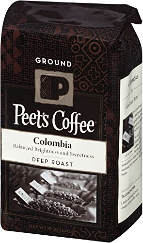 Peet's Coffee Colombia Black Roast Ground Coffee 12-Ounce Bags (Pack of 2)
