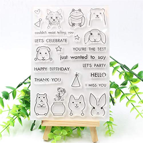 Scrapbooking Stamps 17011801 PEEK-A-Boo PALS Transparent Clear Silicone Stamps for DIY Scrapbooking/Card Making/Kids Fun Decoration Supplies