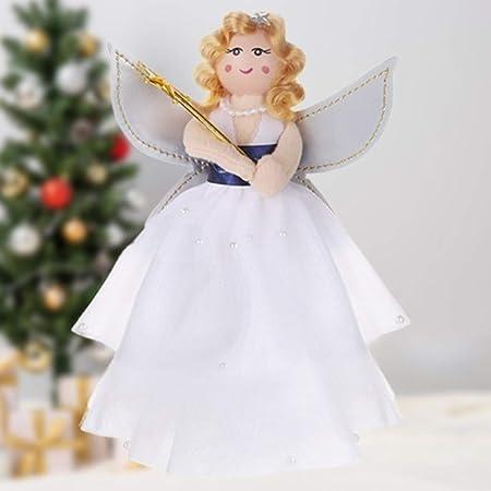 Gisela Graham White Fairy Angel Christmas Tree Topper Ornament Xmas Decoration