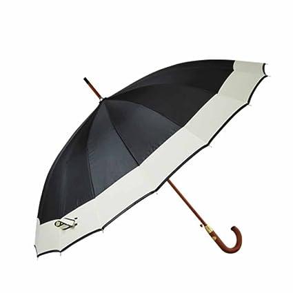 BiuTeFang Paraguas mango de madera paraguas sombrilla negocios de gran tamaño paraguas paraguas recto paraguas automático