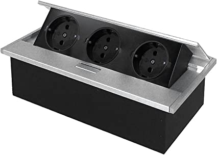 Thebo aluminio mesa enchufe APS 11 Deutsche Norma con 3 ranuras y ...