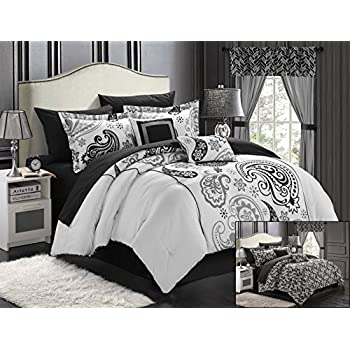Chic Home Olivia 20 Piece Comforter Set Reversible Paisley Print Complete  Bed In A Bag