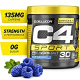 C4 Sport Pre Workout Powder Blue Raspberry | Informed Choice Certified + Sugar Free Pre-Workout Energy Supplement for Men & Women | 135mg Caffeine + Creatine Monohydrate | 30 Servings