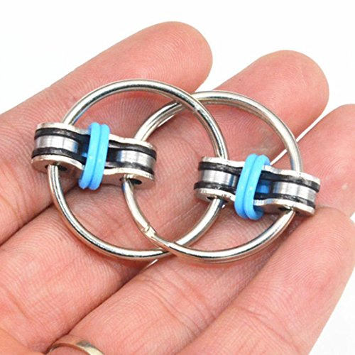 Mostsola Chain Fidget Toy Stress Reducer - Perfect for ADD, ADHD, Anxiety, and Autism (Blue) -