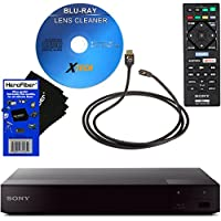 Sony BDPS6700 4K-Upscaling Blu-ray Disc Player with Super Wi-Fi + Remote Control + Xtech Blu-ray Maintenance Kit + Xtech High-Speed HDMI Cable w/Ethernet + HeroFiber Ultra Gentle Cleaning Cloth