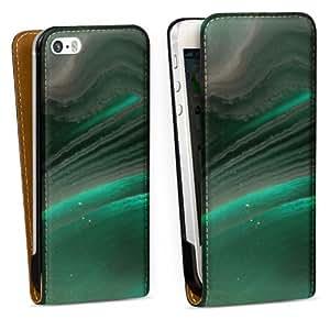Diseño para Apple iPhone 5 S DesignTasche Downflip black - Agate