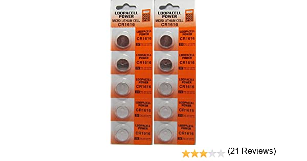 Amazon com  10 Pcs Lithium Coin Loopacell Battery 3v For Keyless Entry  Remote Controls CR1616  Health   Personal Care. Amazon com  10 Pcs Lithium Coin Loopacell Battery 3v For Keyless
