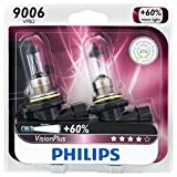 Philips 9006 VisionPlus Upgrade Headlight / Fog Light Bulb, Pack of 2