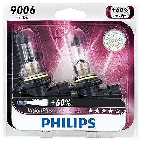Philips 9006 VisionPlus Upgrade Headlight / Fog Light Bulb, Pack of 2 (08 Dodge Ram 1500 Headlights)