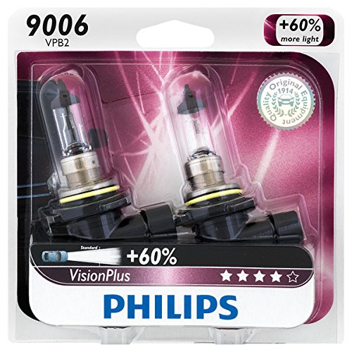 Philips 9006 VisionPlus Upgrade Headlight / Fog Light Bulb, Pack of 2 (Headlight Toyota Matrix Headlight)