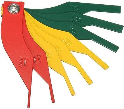 RUNGAO 8-in-1 Car Automotive Brake Pad Measure Ruler Tool Feeler Lining Thickness Gauge