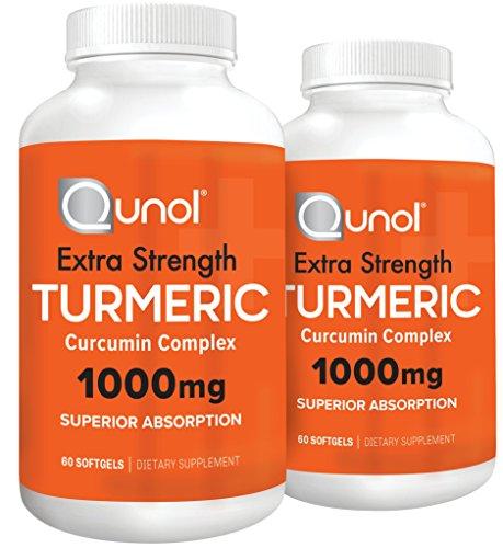 Qunol Turmeric Curcumin Softgels, Qunol with Ultra High Absorption 1000mg, Anti-Inflammatory, Dietary Supplement, Extra Strength, 120 (Extra Strength Softgels)