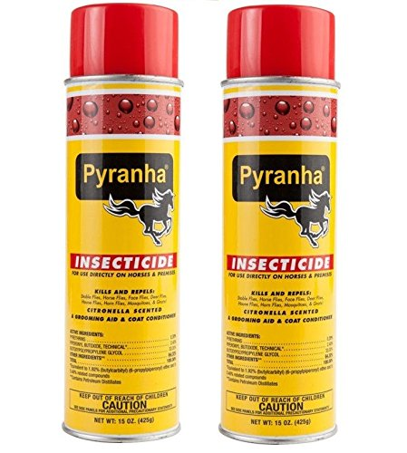 Pyranha Insecticide Aerosol Premise and Horse Fly Spray 15 oz 2 Pack