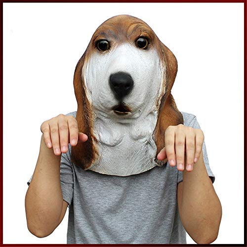 Fly Halloween Foxhound Headgear Basset Head Mask Dance Party mask]()