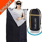 sleeping bag - FARLAND Lightweight Sleeping Bag& Portable Waterproof Envelope Bag With Compression Sack -Perfect For Summer Traveling, Camping, Hiking,Outdoor Activities(Dark Grey / Left Zip)