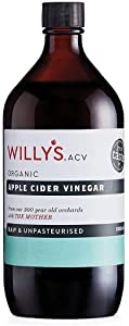 Willys Apple Cider Vinegar With The Mother Glass Bottle, 1 Litre