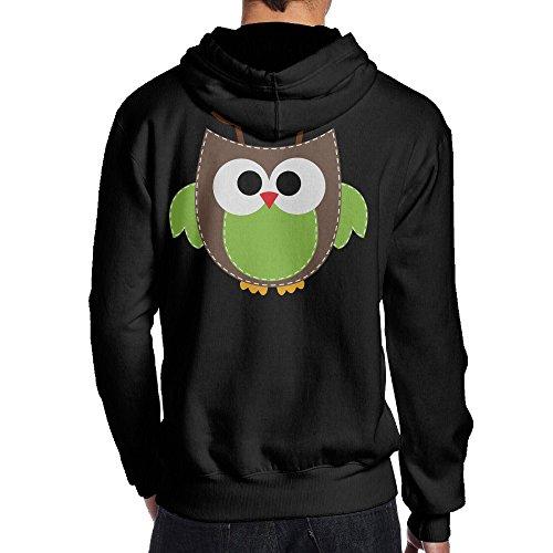 Harmony Blue Fifth Costumes (SBPZEB Antler Owl Jersey Men's Hooded Sweatshirt S)