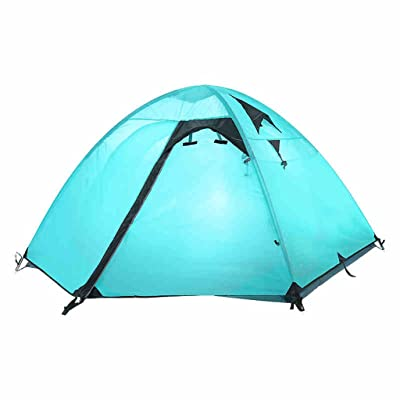 Deng Outdoor 3 à 4 personnes tente 2 couches de camping en plein air tente de pluie