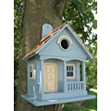 Fledgling Series 'Pacific Grove' Birdhouse Color: Light Blue with Yellow