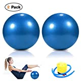 Pilates Ball, Barre Ball, Mini Exercise Ball, 9 Inch-Small Bender Ball for Pilates, Yoga, Core Training and Physical Therapy, Anti Burst & Slip Resistant Balance Ball with Quick Foot Pump (1pcs/2pcs)