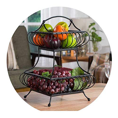 Xiao-bowl2 Multi-layer Fruit Basket Cake Dessert Plates Cake Stand Dish Iron Party Tableware Fruit Snack Food Tray