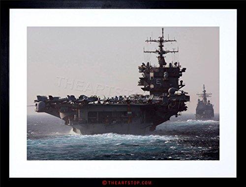 WAR Navy Battleship Aircraft Carrier USS Enterprise Jet Framed Print ()
