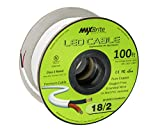 18AWG Low Voltage LED Cable 2 Conductor Jacketed In-Wall Speaker Wire UL/cUL Class 2 (100 ft reel)
