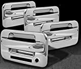 ford chrome accessories - MaxMate Fits 04-13 Ford F150 Not for Heritage Chrome 4 Doors Handle Cover W/O Passenger Side Keyhole With Key Pad
