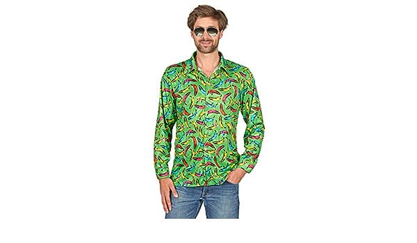 Andrea Moden Pop Banana Hippie Camisa Retro para Hombre ...