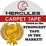 ONE Day Sale! Carpet Tape Double Sided, 35 yd. X 2 in. Military Grade Strength, Voted by Professionals as The Strongest in The Market, Read Our Reviews, Longer Stronger & More Durable, by Hercules