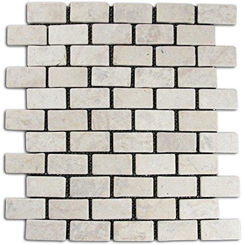- Cream Mini Stone Subway Tile 1 sq.ft