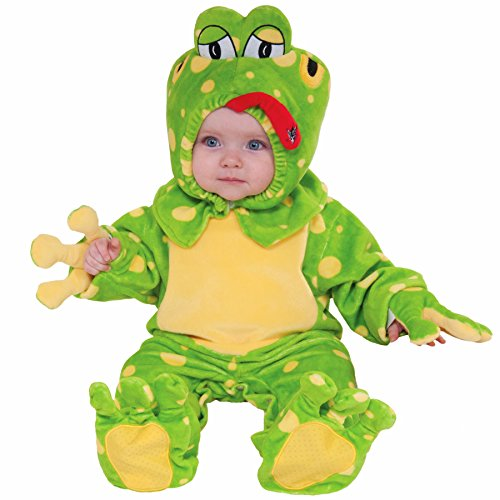 Baby Froggie Costume, Green, Infant(18.5-23lbs)